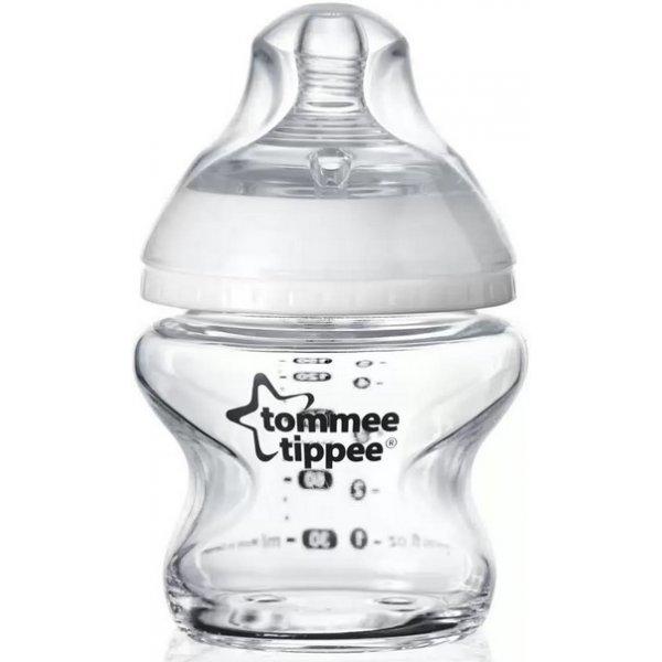 Tommee Tippee Kojenecká láhev C2N 150ml skleněná, 0m+ Bílá